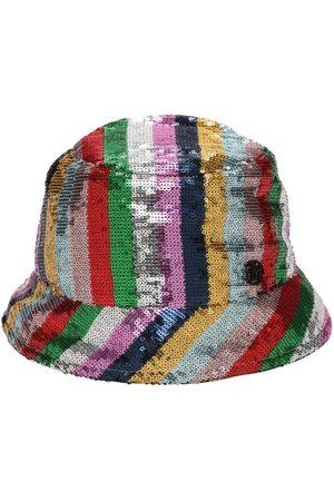 Le Mont St Michel Souna Striped Sequins Bucket Hat