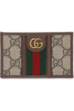 Gucci Ophidia Gg Canvas & Leather Card Holder