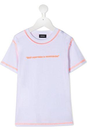 Diesel Contrast stitching cotton T-shirt
