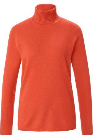 include Kvinder Højhalset - Strikbluse rullekrave Fra orange