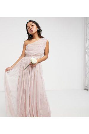 ANAYA Anaya With Love Petite - Bridesmaid - Oneshoulder-maxikjole i lyserød tyl