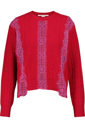 Stella McCartney Lace-trimmed wool sweater