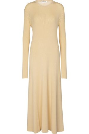 Jil Sander Merino wool-blend midi dress