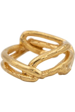 Alighieri The Beginning of the Plait 24kt gold vermeil ring