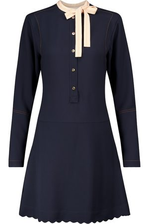 Chloé Tie-neck cady minidress