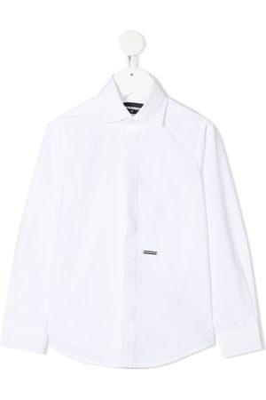 Dsquared2 Logo plaque cotton shirt
