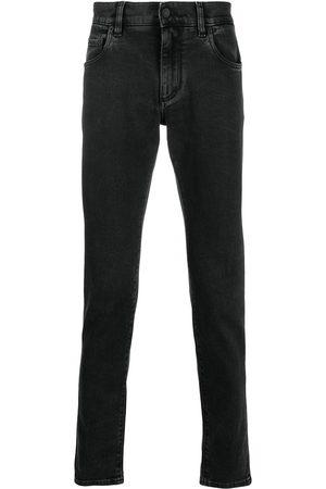 Dolce & Gabbana Jeans med broderet logo og smal pasform