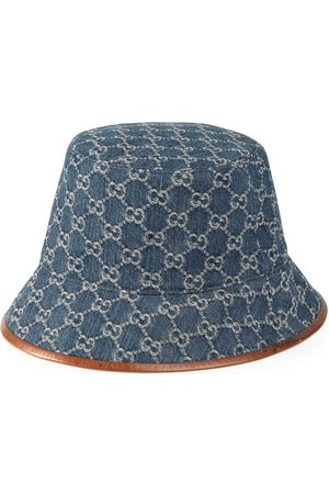 Gucci GG Supreme bøllehat med læderkant