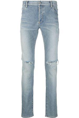 Balmain Jeans med smal pasform og slitageeffekt