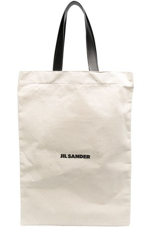 Jil Sander Stor tote med logo