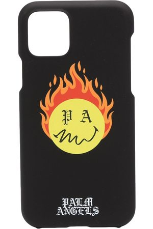 Palm Angels BURNING HEAD IPH CASE 11 PRO BLACK YELLO