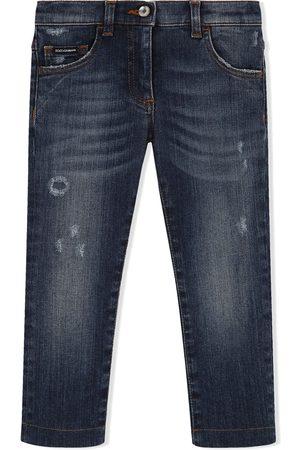 Dolce & Gabbana Skinny-jeans med slitageeffekt