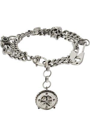 Alexander McQueen Multi Charm Skull Chain Bracelet