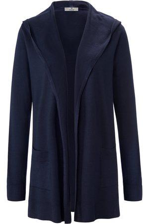 Peter Hahn Kvinder Cardigans - Cardigan i 100% ren ny uld Fra PURE EDITION blå