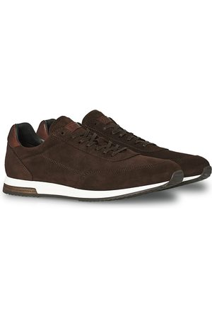 Design Loake Mænd Sneakers - Bannister Running Sneaker Dark Brown Suede
