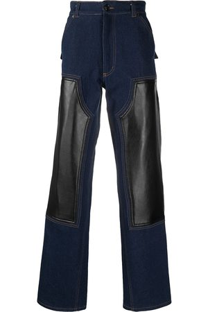 DUOltd Straight contrast-panel jeans