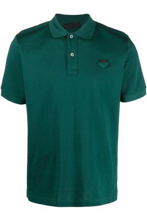 Prada Logo patch polo shirt