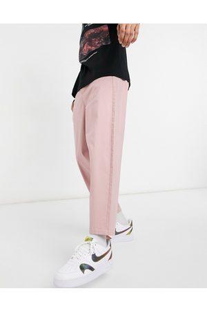 ASOS Oversized, tapered chino-bukser i lyserød