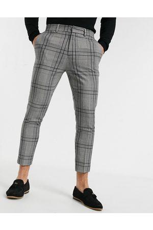 New Look Elegante og cropped skinny-bukser i gråt tern