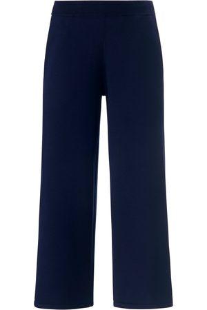 Peter Hahn Kvinder Culottes bukser - Strik-culottes i 100% bomuld Fra blå