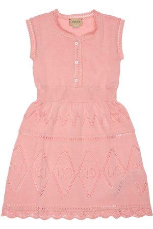 Gucci Kvinder Strikkede kjoler - All Over Logo Cotton Knit Dress