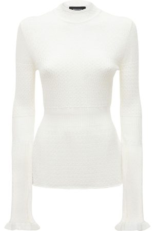 Rochas Kvinder Strik - Flared Cable Knit Sweater