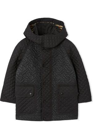 Burberry Frakke med aftagelig hætte og monogram