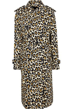 Marc Jacobs Kvinder Trenchcoats - Leopard-print denim trench coat