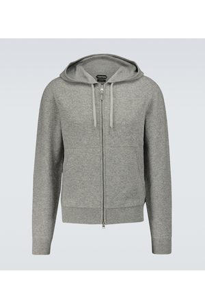 Tom Ford Mænd Strik - Cashmere-blend zipped sweater