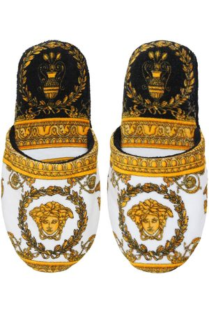 VERSACE I Heart Baroque Cotton Slippers