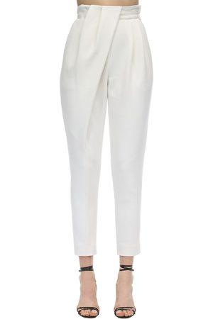 Proenza Schouler Draped Stretch Wool Suit Pants