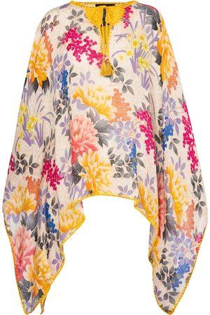 Etro Kvinder Ponchos - Printed linen poncho