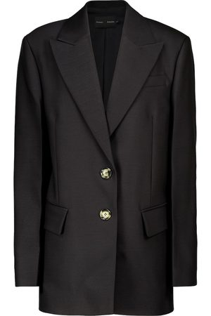Proenza Schouler Oversized wool and silk-blend blazer