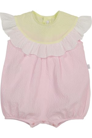 Il gufo Piger Playsuits - Baby ruffled cotton playsuit