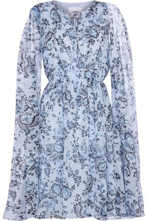 Erdem Austin silk voile cape minidress