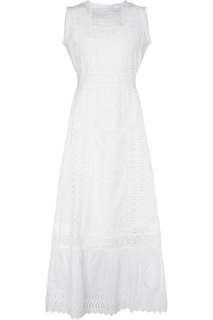 Etro Broderie anglaise cotton maxi dress