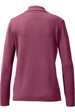 Peter Hahn Kvinder Poloer - Polobluse 100% ren ny uld Fra rosé