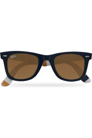 Ray-Ban Mænd Solbriller - RB2140 Wayfarer Sunglasses Dark Blue/Brown