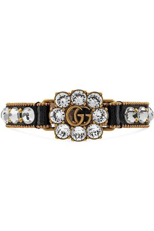 Gucci Mænd Armbånd - Krystalbesat GG-armbånd