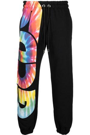 GCDS Tie dye logo print track pants
