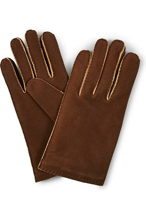 Hestra Mænd Handsker - Philippe Chamoise Wool Lined Glove Brown