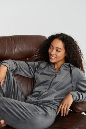 Gina Tricot Kvinder Sweatshirts - Cecilia velour hoodie