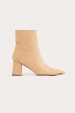 NA-KD Kvinder Støvler - Støvler I Imiteret Læder Med Smal Tå