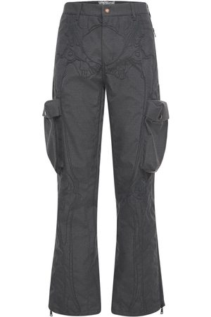 Formy Studio Mænd Cargo bukser - Ultrasound Embroidered Cargo Pants