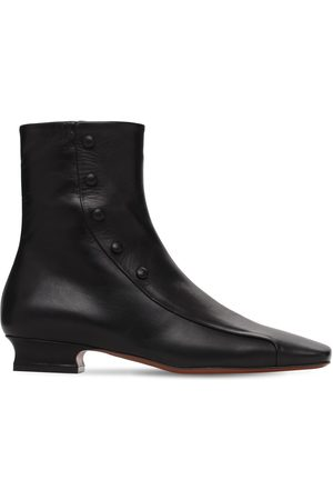MANU Kvinder Ankelstøvler - 30mm Duck Leather Ankle Boots