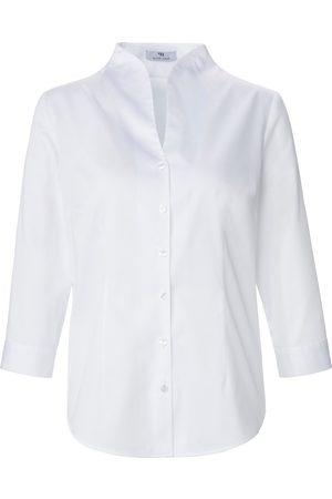 Peter Hahn Kvinder Langærmede - Skjorte afrundet ståkrave Fra