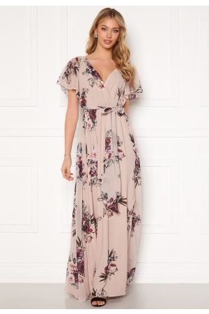 Goddiva Kvinder Maxikjoler - Flutter Floral Maxi Dress M (UK12)