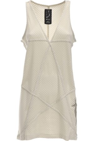 Rick Owens Champion V Neck Jersey Mesh Tunic Dress