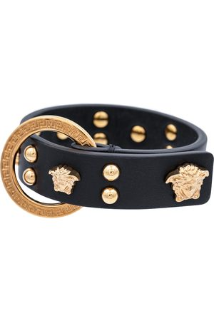 VERSACE Medusa studded leather bracelet