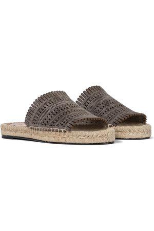 Alaïa Kvinder Espadrillos - Laser-cut leather espadrille sandals